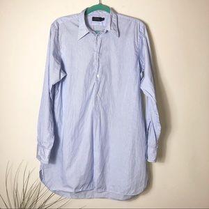 Polo Blue Striped Popover Shirt